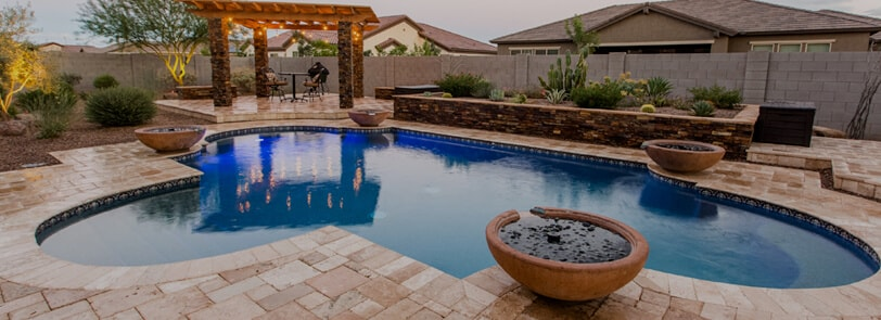 Spruce up your arizona backyard mesa pools and landscape for Pool design az