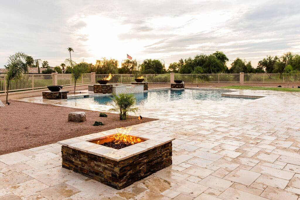 Hands down the most elaborate pools our Mesa, Arizona pool builders have ever worked on.
