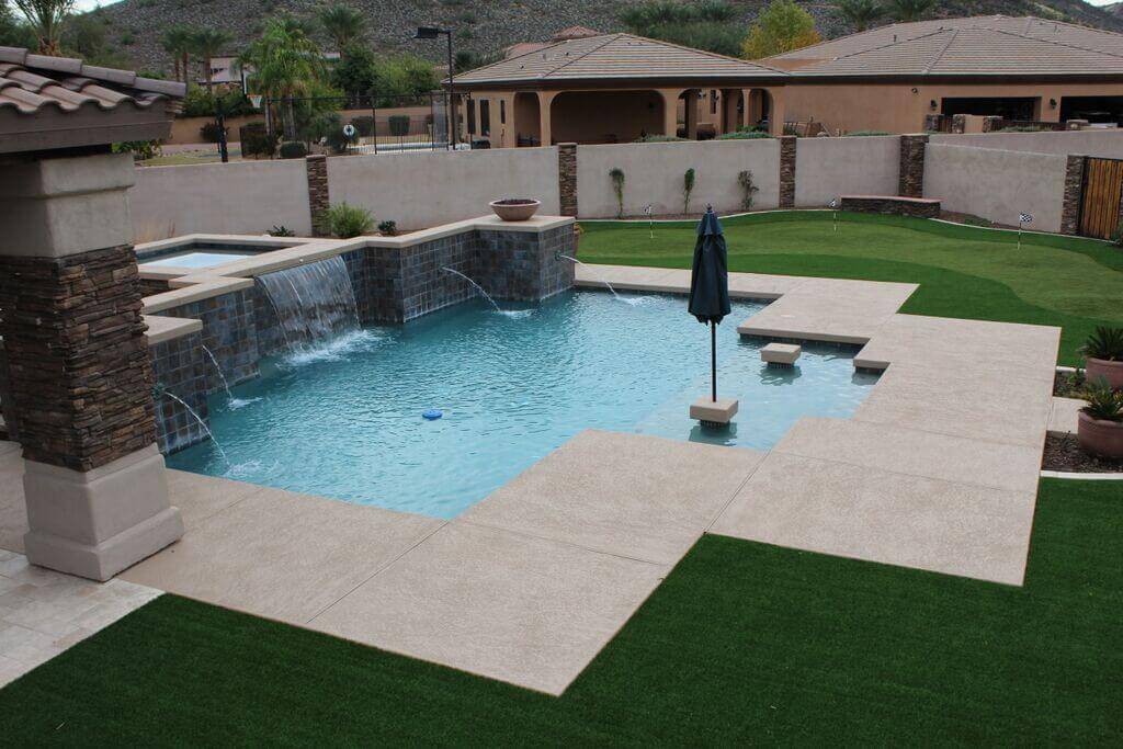 Phoenix pools and spas gallery swimming pool builders for Pool companies