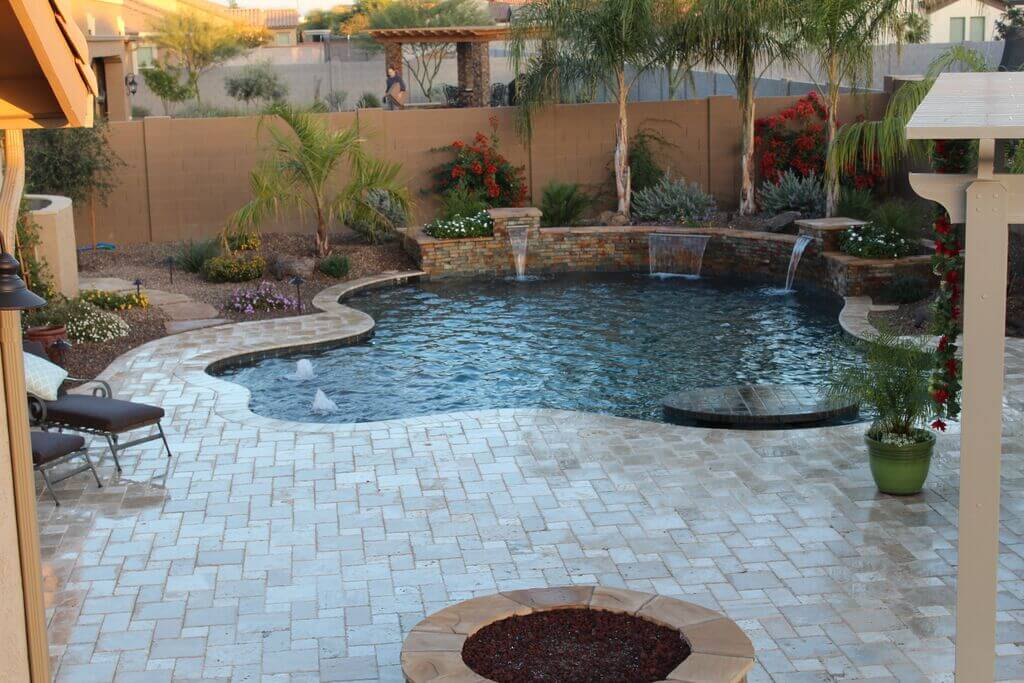 Phoenix pools and spas gallery swimming pool builders for Garden fountains phoenix