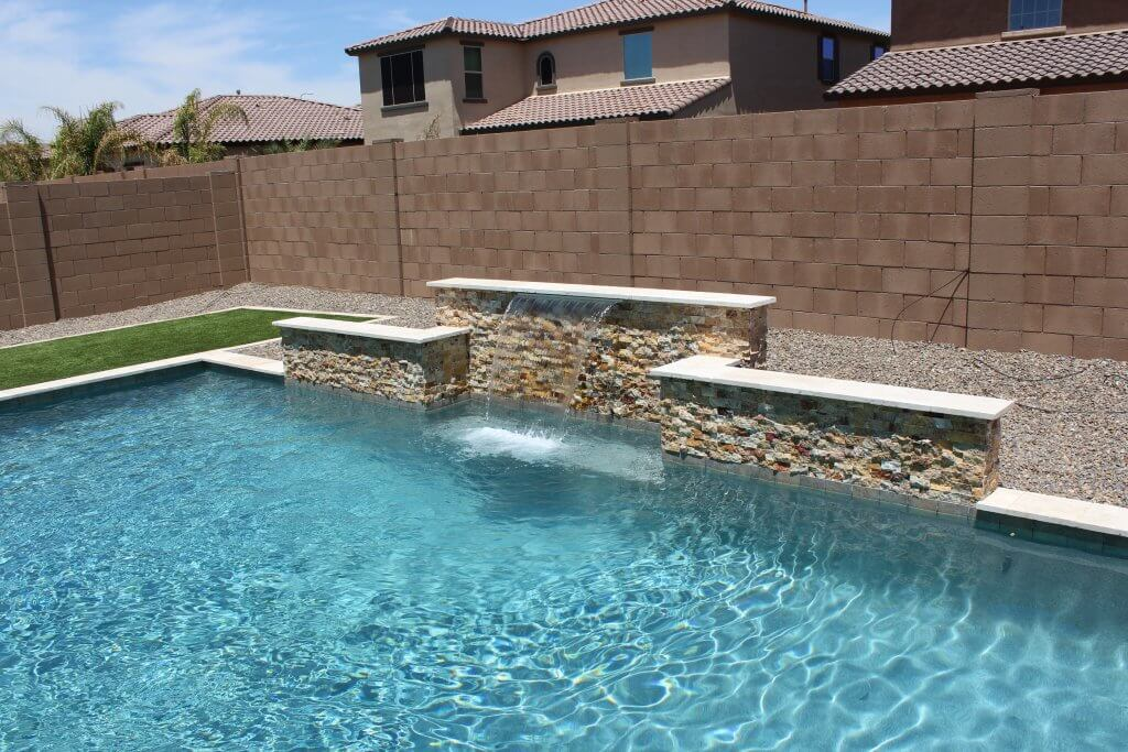 Just a couple minutes after out extensive pool cleaning of a Mesa pool.