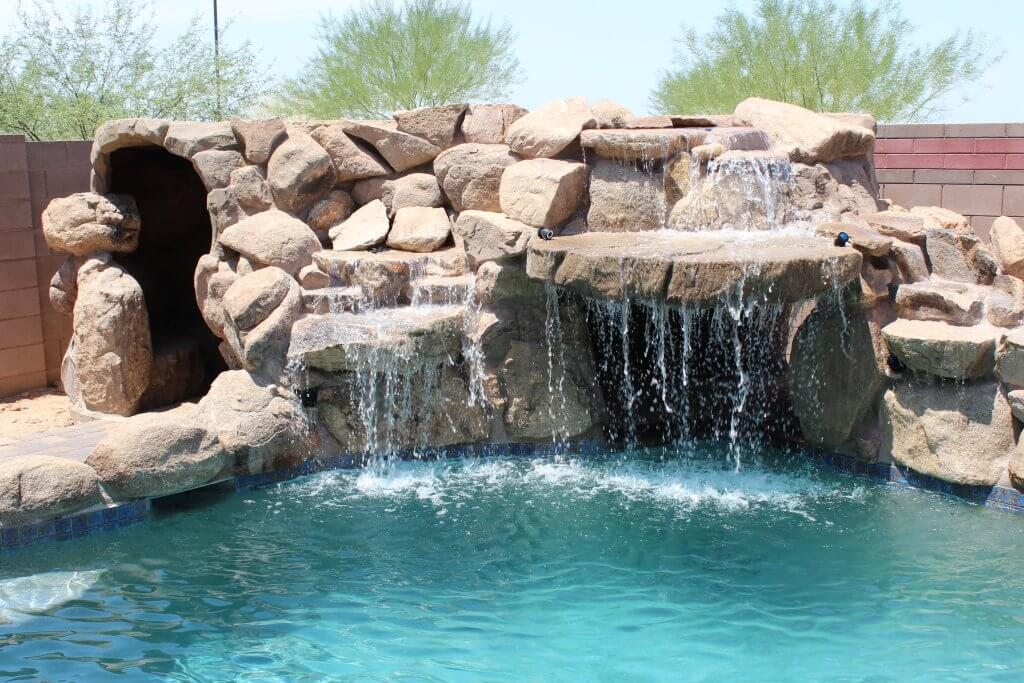 A Poolside Waterfall