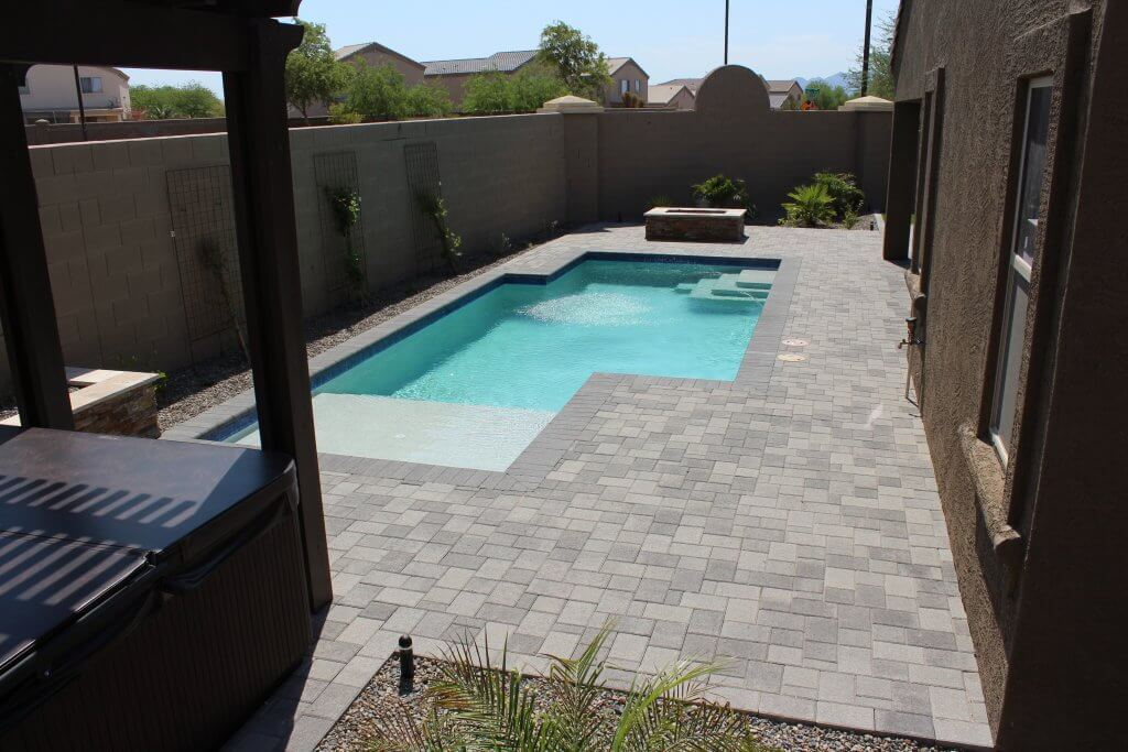 A painstaking project our pavers in Arizona worked all day to lay out.