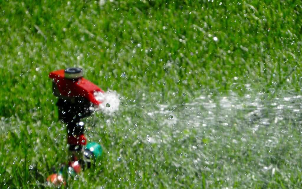 Picture taken of one of our sprinklers in action.